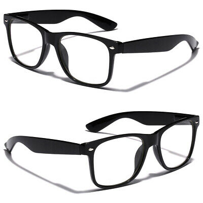 Non Prescription Kids Nerd Geek Costume Clear Lens Youth Teen Boys Girls Glasses