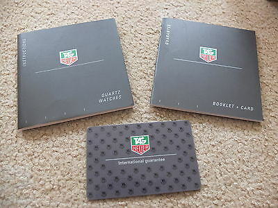 Classic Tag Heuer Quartz Watches Instruction & Guarantee Booklet & Registration