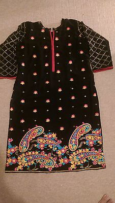 Pakistani embroidered chiffon Kurta Size M