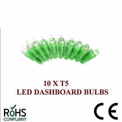 10 x 24v 508 T5 LED DASHBOARD UPGRADE BULBS GREEN T5 74 24 VOLT CAPLESS 5MM