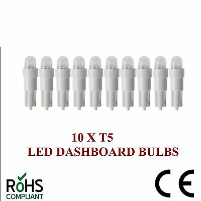 10 x 24v 508 T5 LED DASHBOARD UPGRADE BULBS WHITE T5 74 24 VOLT CAPLESS 5MM