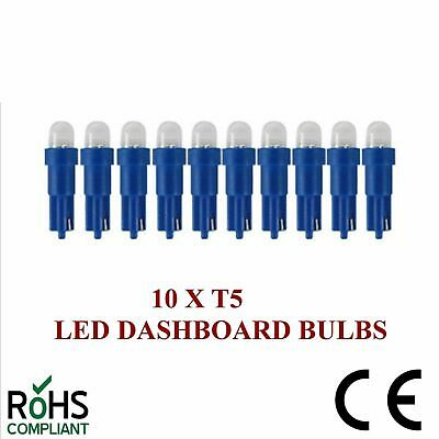 10 x 24v 508 T5 LED DASHBOARD UPGRADE BULBS BLUE T5 74 24 VOLT CAPLESS 5MM