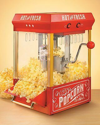 Popcorn Maker Popper Red Nostalgic Electric Kettle Corn Butter Home Party New