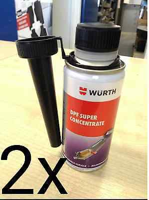 2x BRAND NEW GENUINE WURTH DPF SUPER CONCENTRATE CLEANER 2x 150ML