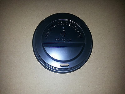 Case of 1000 98mm Black Dome Coffee Lids for 12-24oz Cups by Majestic Containers