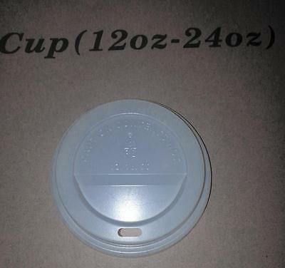 Case of 1000 98mm White Dome Coffee Lids for 12-24oz Cups by Majestic Containers