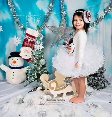 Hand Made exclusive Christmas Tutu Dress for Toddler Snowman Olaf