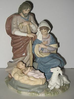 """Porcelain Collectable Holy Family Figurine 9 1/2"""" In Box"""