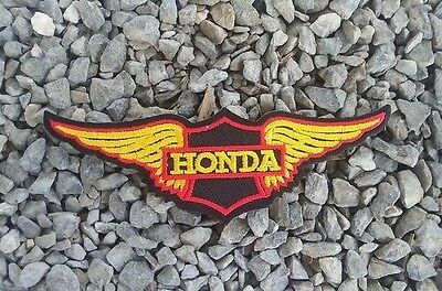 HONDA Wing Motorcycles Rider Biker Patch Iron on Embroidered Jacket Badge Logo