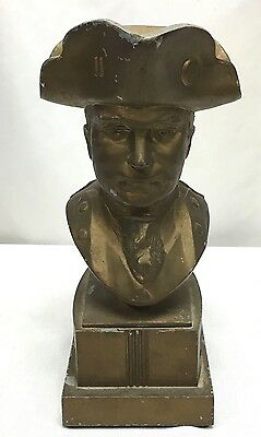 Paul Jones Cast Pot Metal Whiskey Bust
