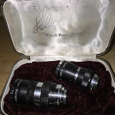 Soligor Elitar Worlds Finest Optics Telephoto & Wide Angle F/1.9 Kit