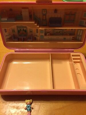 Polly Pocket Pretty Hair Playset Compact Bluebird 1990 2 Figure Vintage
