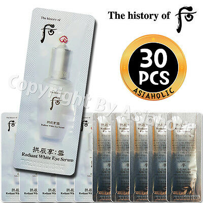 The history of Whoo Gongjinhyang Seol Radiant White Eye Serum 1ml x 30pcs (30ml)