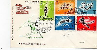 SAN MARINO - 1964 XVIII OLYMPIC GAMES, TOKYO - FDC, first day cover, stamps