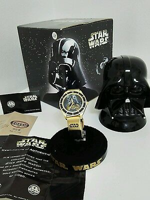Fossil Star Wars Watch Darth Vader Gold Limited Edition of 1000 RARE