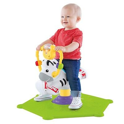 Fisher-Price Go Baby Go! Bounce & Spin Musical Zebra Toddler Toys