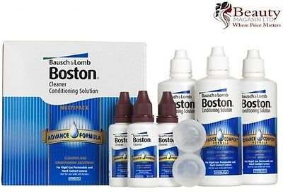 BOSTON Cleaner Conditioning Contact Lens Solution - 3x 30ml/120ml