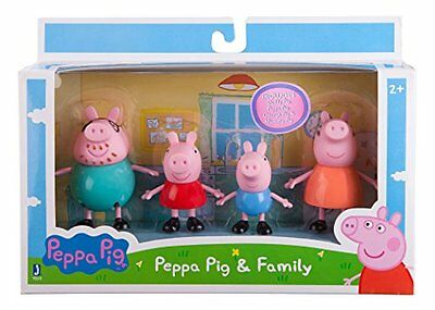 Peppa Pig Family Set of 4 Pack Playset Figures Daddy Mummy George Toys Gift Kids