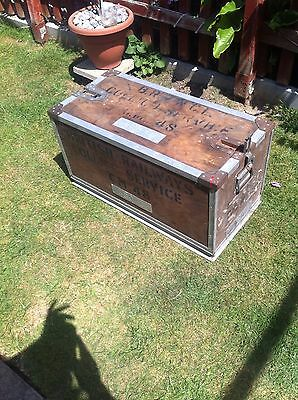 Antique British Railways Collapsing Chest / Box