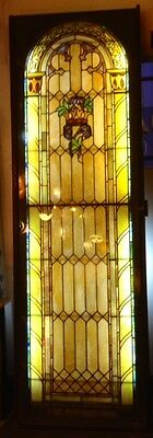 Huge, RARE 19th Century Stained Glass Window--Backlit with Dimmer! Reduced!