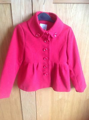 Girls Next Red Jacket with patterned lining age 7 - 8  EU 128 cm