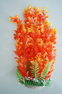 Aquarium Plants Approx 33cms High Orange & Yellow Suitable for all Aquariums