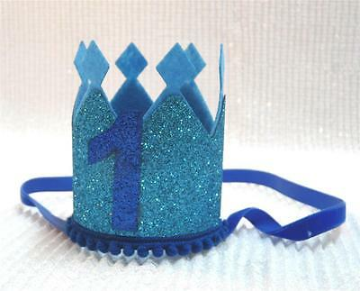 First Birthday Crown - Glitter Point One Crown - Photo Props Cake Smash Props