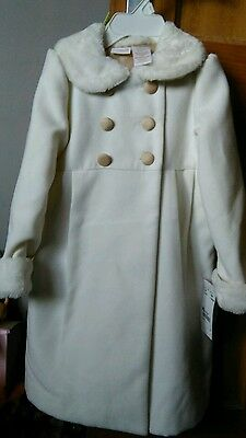 Girls Victorian Style White Coat plus Dress Age 4/5