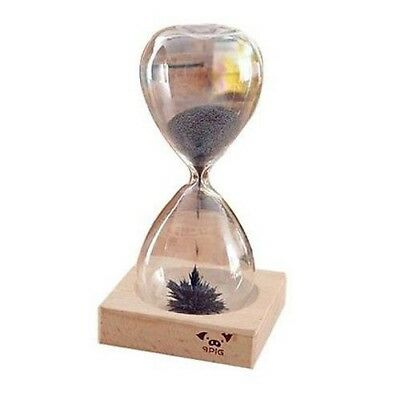 Magnetic Hourglass Wood Base, Unique Gift Idea, Mesmerising, Very Cool Present