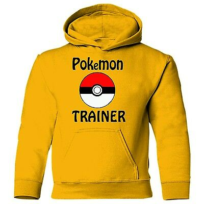 POKEMON TRAINER Pokemon Go Powerball Kids Gildan printed hoodie hoody sweatshirt