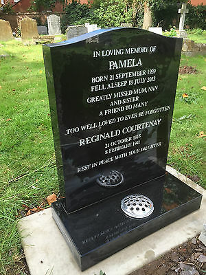 Personalised Granite Memorial Headstone With UK FITTING. UNLIMITED LETTERS.