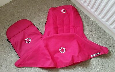 Bugaboo cameleon 1, 2 & 3 pink canvas fabric set Hood, apron and seat cover.