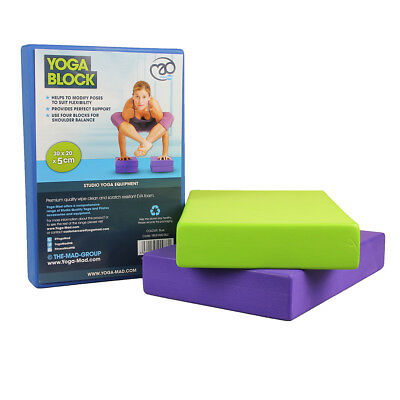 Fitness Mad - Bloc Yoga Brique Mousse Amorti et Stabilisation 5 x 30.5 x 20.5cm