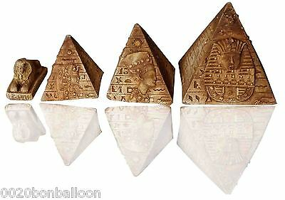Set Pyramids Sphinx Scarab Pharaoh Figurine Statue Ancient Hand 3D Sculpture 224