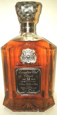 old decanter blended whisky canadian club classic 12 yo cl 70 40°