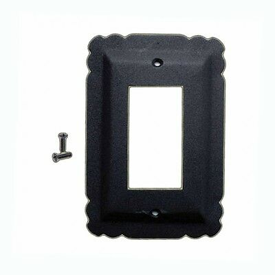Switchplate Black Steel SIngle GFI RSF| Renovators Supply
