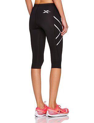 New 2XU Women Compression 3/4 Tights All Sizes Silver