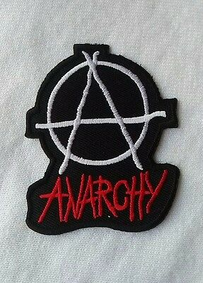 ANARCHY Sew Iron On Patch Rock Band Heavy Metal Punk Logo Embroidered