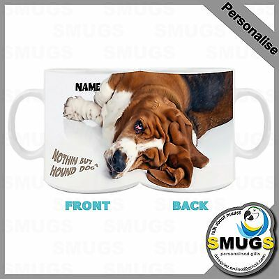 Basset Hound Dog MUG.Personalised.Birthday-Gift-Present-Occasions.Top Quality