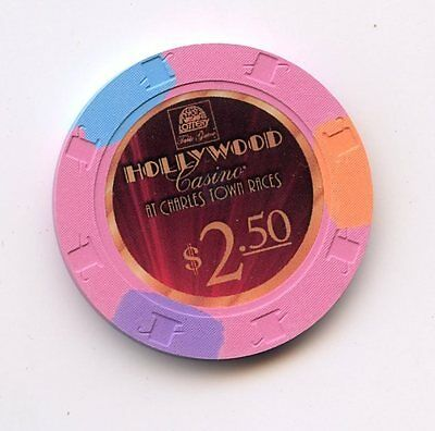 2.50 Chip from the Hollywood Casino in Charles Town West Virginia