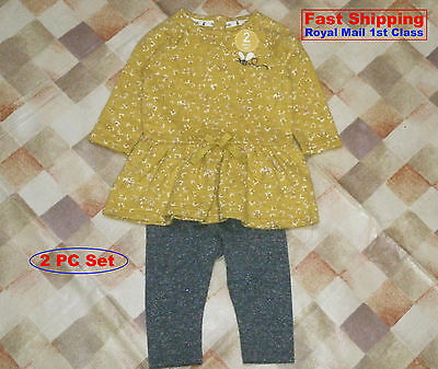 BNWT NEXT GIRLS' Ochre Tunic And Legging Set VARIOUS SIZE