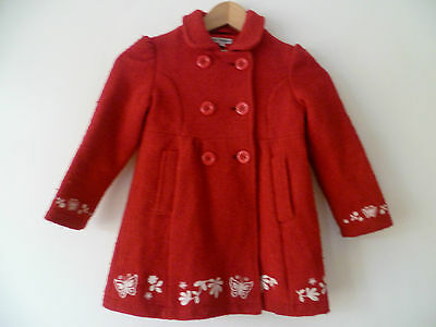 Marks & Spencer Autograph 4-5Years Girls Lovely Red Double Breasted Coat