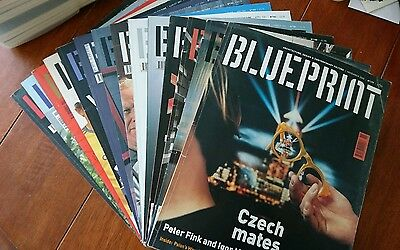 Collection of 14 Blueprint architecture, design & contemporary culture Magazines