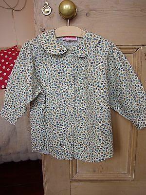 Vintage floral cotton blouse 80's 12-18 18-24 Children's Warehouse traditional