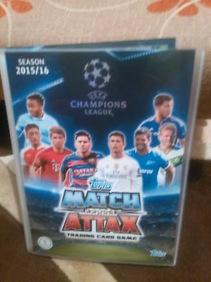 Topps Match Attax Champions League 2015 2016  Album + Full Complete Set 500 card