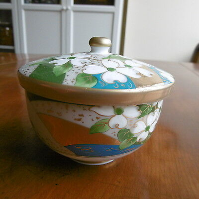 SUPERB Orig FINE Hand painted Japanese KUTANI PORCELAIN Bowl with Cover..Signed.