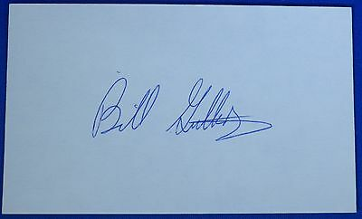 BILL GUTHRIDGE signed 3 by 5 deceased 2015 UNC coach