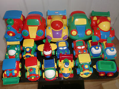 18 Sturdy Small Plastic Cars / Trains / Trucks /Helicopter