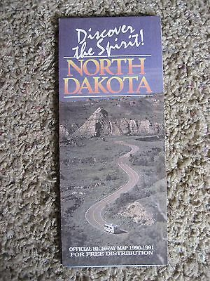 North Dakota, Official Highway Map, 1990-1991