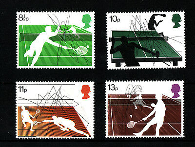 1977 Racket Sports NH Mint set of stamps SG 1022-25